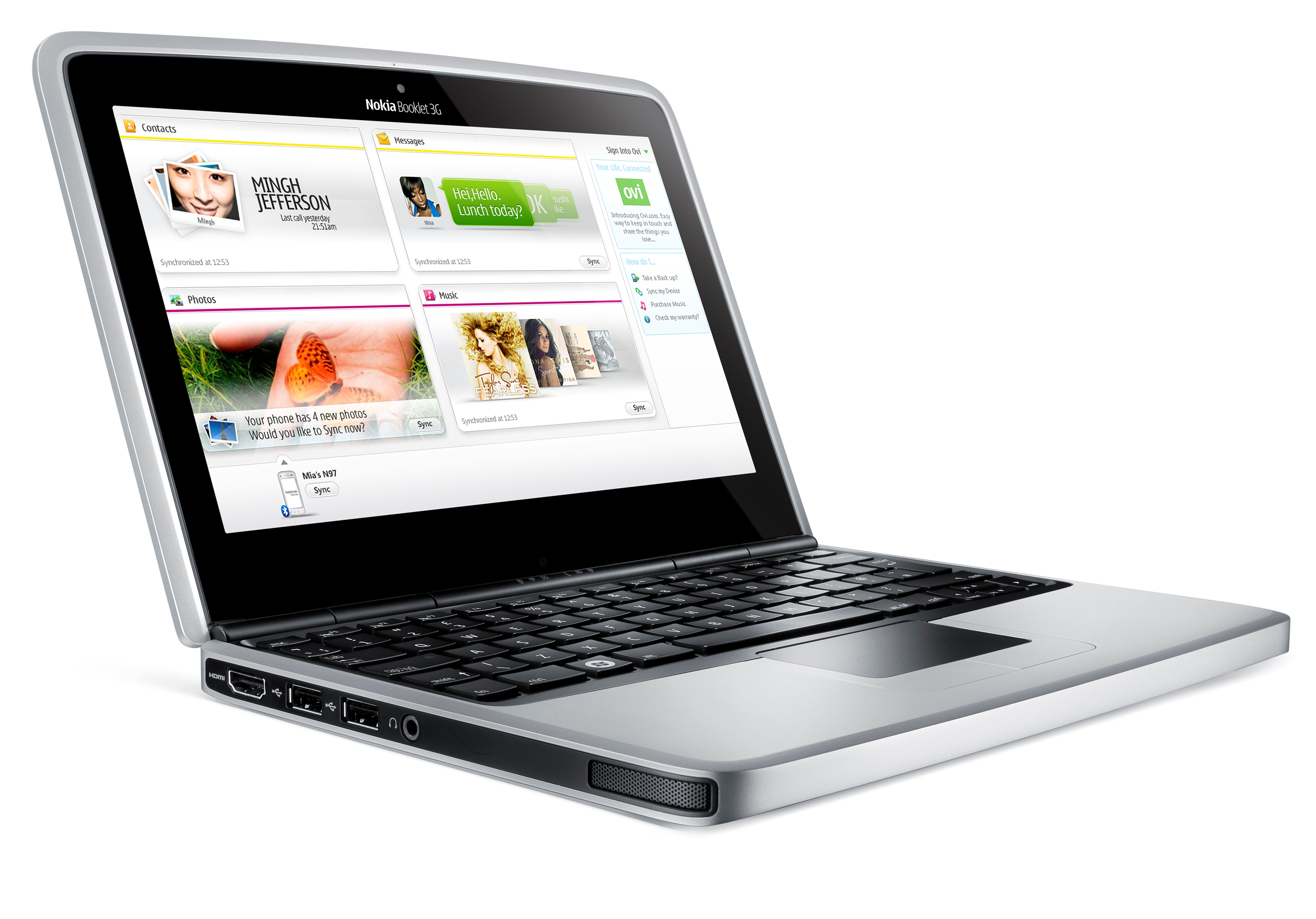 Nokia - Booklet 3G - front