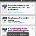 Android 2.0 Screenshot Roundup