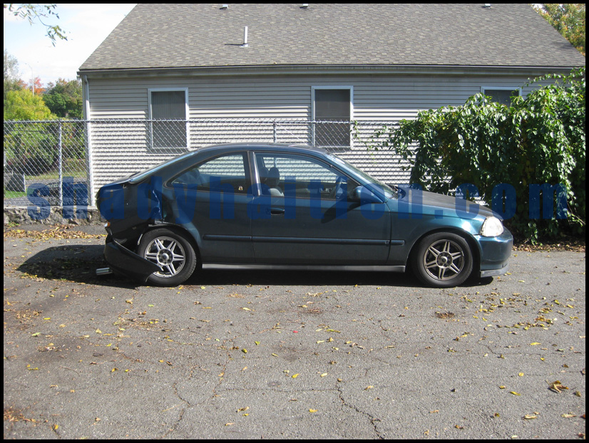 1997 Honda Civic EX - Accident side view