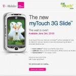 myTouch 3G Slide – Pricing & Availability