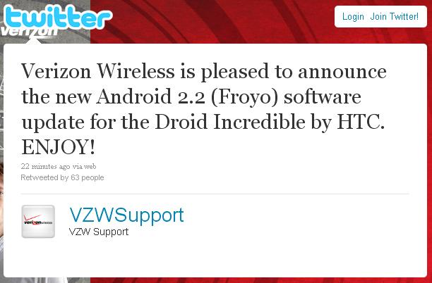 Droid Incredible - Android 2.2 Froyo Update