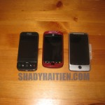 T-Mobile G1, myTouch Slide, and G2 closed view comparison